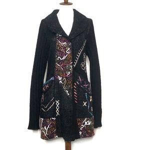Liquid Sioni Wool Mohair Knit Cardi Jacket Large